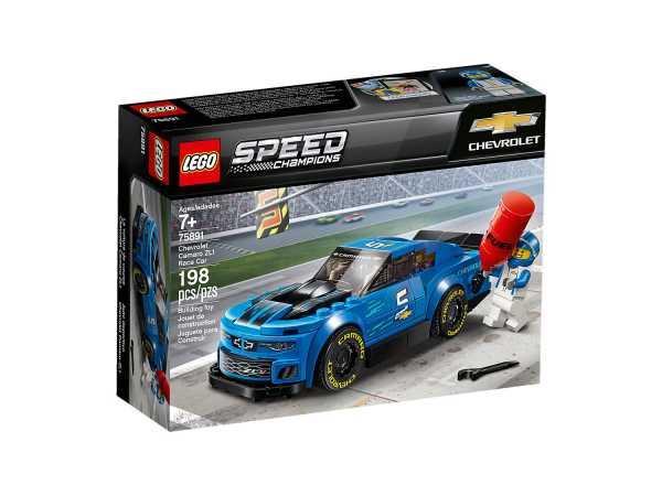 LEGO Speed Champion Auto Da Corsa Chevrolet Camaro ZL1 Con Minifigure Del Pilota, Set Di Costruzioni, Idea Regalo Per Tutti Gli Appassionati Di Motori E Per Bambini +7 Anni, 75891
