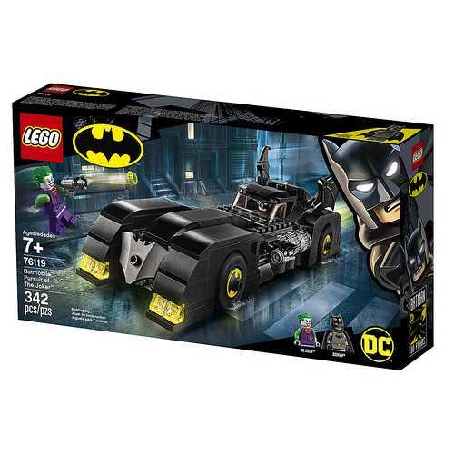 LEGO Super Heroes 76119 - Batmobile, Inseguimento Di Joker Con Due Minifigure Batman E Joker, Idea Regalo Per Bambini +7 Anni