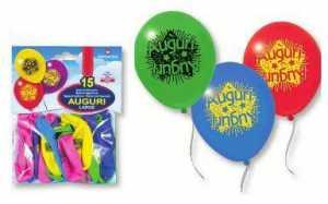 15 Palloncini Auguri In Lattice Colori Assortiti