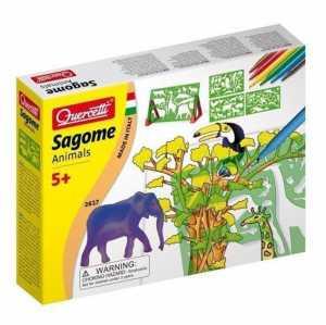 Quercetti 02617 - Gioco Sagome Animals
