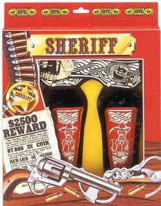 Cinturone Doppio Sheriff - Villa Giocattoli (00222)