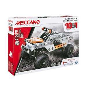 Meccano 6036038 - Set Costruzioni 10 Modelli Veicolo Pick-Up, Pezzi In Metallo