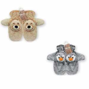 GUANTI PELUCHE PINGUINO ORSO - Face Up (Fup119)