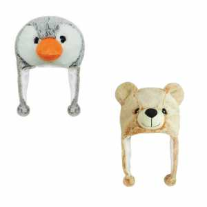 CAPPELLO PELUCHE PINGUINO ORSO - Face Up (Fup120)