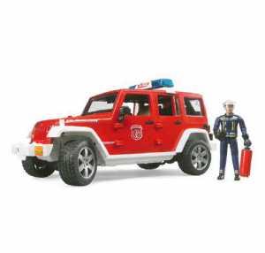 Bruder 02528–Jeep WRANGLER UNLIMITED Rubicon Veicolo Camion Dei Vigili Del Fuoco Con Vigili Del Fuoco