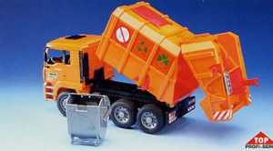 Camion Rifiuti Arancio Man Tga