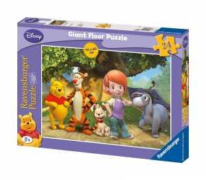 Ravensburger 53667 Tigro E Pooh Puzzle 24 Pezzi Da Pavimento