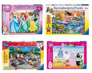 Ravensburger - 10871 8 - Topolino Allo Skate-Park. Puzzle 100 Pezzi