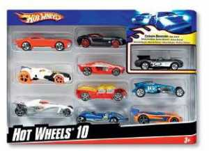HOT WHEELS - MATTEL HOT WHEELS CONFEZIONE 10 VEICOLI