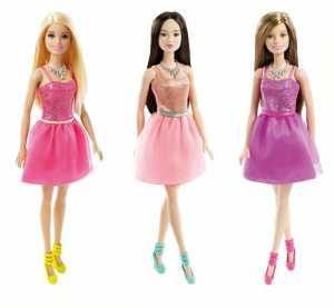 Barbie DGX83 Glitz - Bambola Con Abito Rosa, Mora
