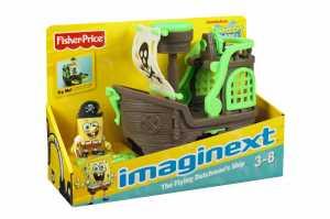 Mattel W9587 - SpongeBob Imaginext La Nave Da Pirata Spongebob