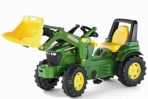 Rolly Toys 710027 - Trattore A Pedali Johndeere 7930 Con Ruspa Trac