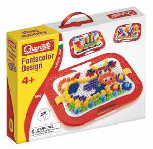 Quercetti 0900 - Fanta Color, Pin Design Game, 300 Pins, Mosaico