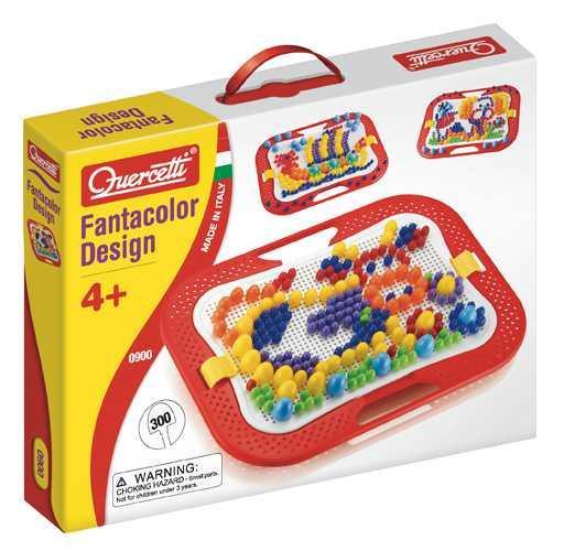 Quercetti 0900 - Mosaik Fanta Color, Chiodini Da Infilare, Compresi 300 Chiodini