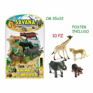 GIOCO ANIMALI FORESTA BUSTA PZ.10 70709