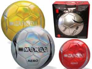 Mondo Toys - Pallone Da Calcio Cucito AERO - Size 5 - 400 G - Colore Rosso/grigio/oro - 13712