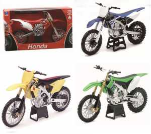 Newray 57443 - Dirt Bike Honda Crf450R, Scala 1:12, Die Cast