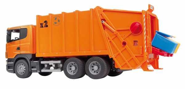 Bruder 03560modello Giocattolo-Modelli Di Giocattoli, Nero, Arancione)