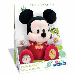 Clementoni 14636 - Peluche Interattivo, Baby Mickey, 6 Mesi+