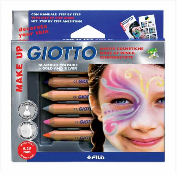 Giotto 470800 - Make Up Matite Cosmetiche Colori Glamour