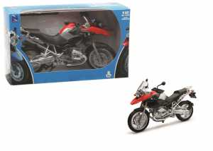 New-Ray S.R.L- Moto 1:12 Newr BMW R1200 GS 42763, Multicolore, 846021