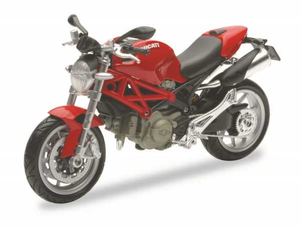 Newray 44023 - Ducati Monster 1100, Scala 1:12, Die Cast, Colori Assortiti