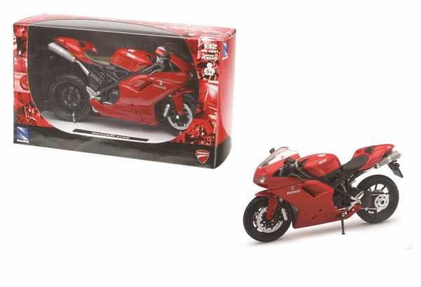 New Ray 57143A - Ducati 1198, Scala 1:12, Die Cast, Colori Assortiti, 1 Pezzo