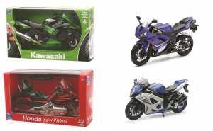 Yamaha YZF-R1, Blu/schwarz, 2008, Modello Di Automobile, Modello Prefabbricato, New Ray 1:12
