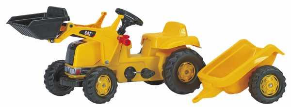 Rolly Toys 23288 - Veicolo A Pedali Kid Cat, Con Ruspa E Rimorchio