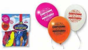 15 Palloncini Buon Compleanno In Lattice Colori Assortiti