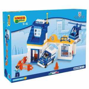 UNICOplus 8544-0002 - Stazione Polizia, Bianco/Giallo/Blu