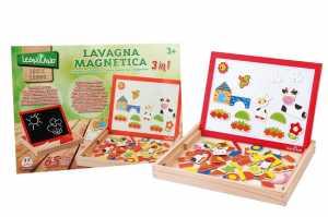 Legnoland 37764 - Lavagna Legno Magnetica Con Magneti, 65 Pezzi/Gessi