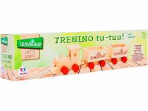 Legnoland- Trenino Legno Trainabile, 3 Pezzi, Multicolore, 37912