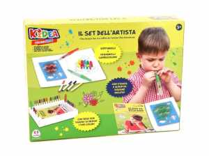 Kidea- Set Creativo Pennarelli, Multicolore, 38104