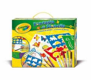 Crayola Crafting Kit - Stencil Fun - Kids' Art & Craft Kits (Colour Pencil, Crayon, Marker, Notepad, Template, Boy/Girl, Multicolour, Multi)