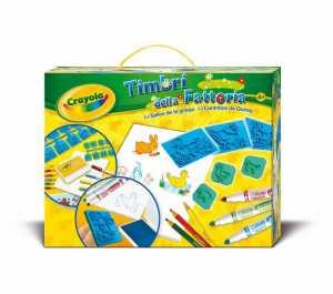 Crayola Crafting Kit - Farm Stamper Kit - Kids' Art & Craft Kits (Colour Pencil, Marker, Notepad, Stamp, Boy/Girl, Multicolour, Multi)