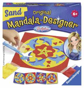 Ravensburger Original Mandala Designer 29858-Mini Sabbia: Delfino