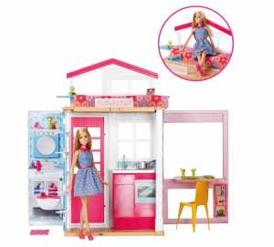 Casa Di Barbie Con Accessori Per Cena Romantica E Film