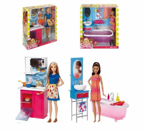 Barbie- Playset Con Doccia Bambola Con Accessori, Giocattolo Per Bambini 3+ Anni, FXG51