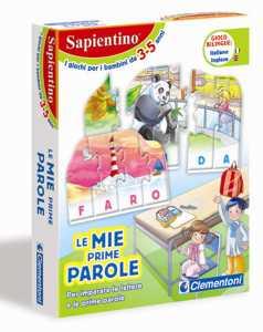Clementoni 12894 - Sapientino Tessere Illustrate Le Mie Prime Parole