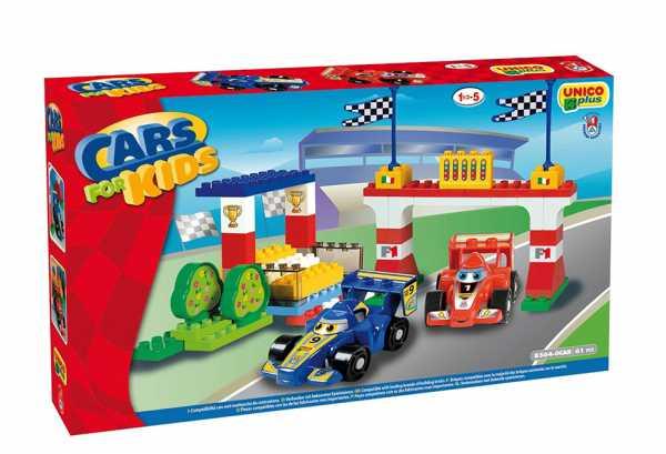 COSTRUZIONE Unico Cars For Kids-Autodromo F1 61pz 8564
