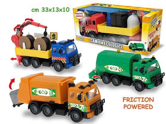 Teorema Giocattoli- Camion Ecologici A Frizione, Multicolore, 3.TE72424