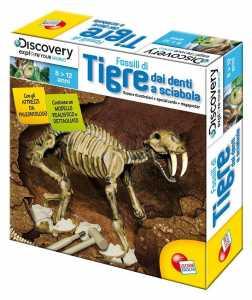 Liscianigiochi 35687 Discovery Superkit Fossili Kit Tigre Sciabola