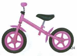 Bici Pedagogica Senza Pedali Rosa Con Freno E Sella Regolabile