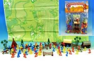 BUSTA INDIANI COWBOY E CARRI - Toys Garden (25111)