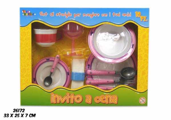 Scatola CUCINA PIATTI POSATE - Toys Garden (26172)