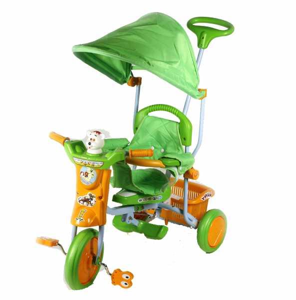 ODG Articoli A Pedali Triciclo Bubu Giallo/Verde Odg815 Giocattolo Bambini, Multicolore, 8056045598158