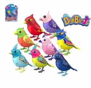 Rocco Giocattoli - Digibirds Uccellino Canterino, 18 Colori Variopinti