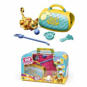 Giochi Preziosi - Pet Parade, Carry Kit Con Gattino E Portantina, Giallo/Marrone