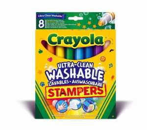 Crayola 58-8129 - Set 8 Pennarelli A Stampino Ultra Lavabili